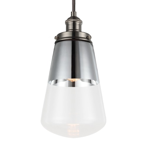 Feiss Lighting Feiss Waveform Polished Nickel Mini-Pendant Light P1372PN