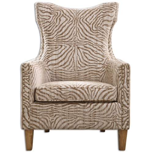 Uttermost Lighting Uttermost Kiango Animal Pattern Armchair 23208