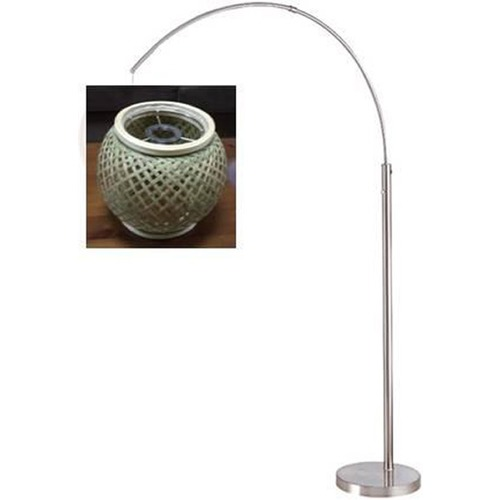 Lite Source Lighting Lite Source Evangeline Polished Steel Arc Lamp with Oblong Shade LS-82771
