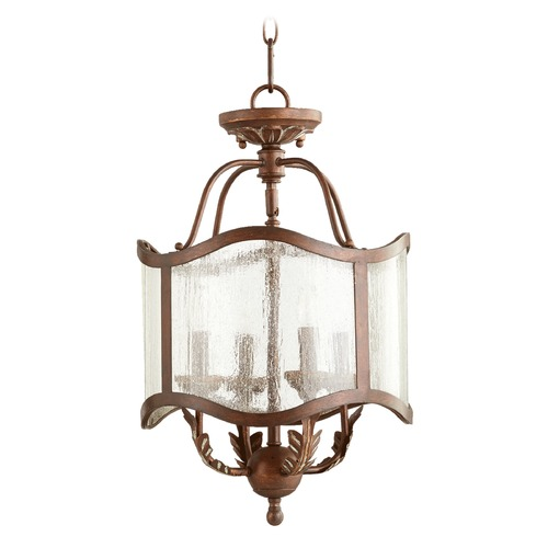 Quorum Lighting Quorum Lighting Salento Vintage Copper Pendant Light with Drum Shade 2906-13-39