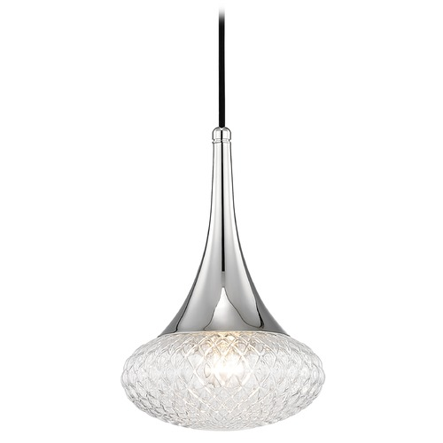 Mitzi by Hudson Valley Mid-Century Modern Pendant Light Polished Nickel Mitzi Bella by Hudson Valley H114701C-PN