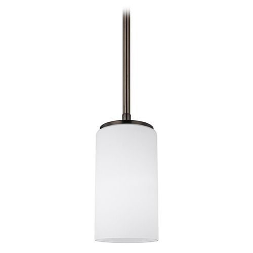Sea Gull Lighting Sea Gull Lighting Alturas Brushed Oil Rubbed Bronze Mini-Pendant Light with Cylindrical Shade 6124601-778