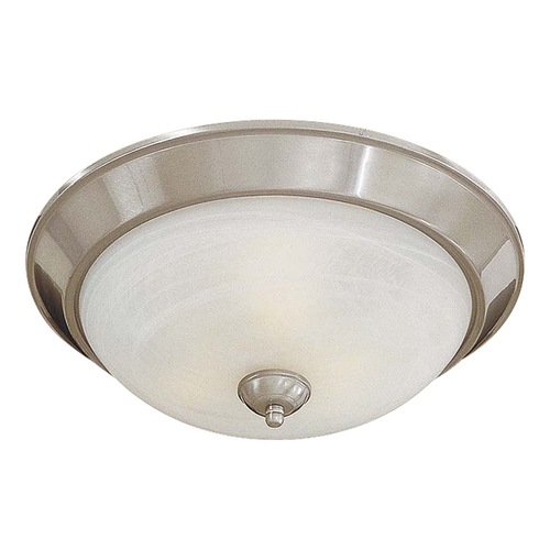 Minka Lavery Flushmount Light in Brushed Nickel - Etched Marble Glass 893-84