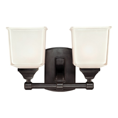 Hudson Valley Lighting Modern Bathroom Light with White Glass in Old Bronze Finish 2242-OB