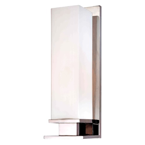 Hudson Valley Lighting Modern Sconce with White Glass in Polished Nickel Finish 520-PN