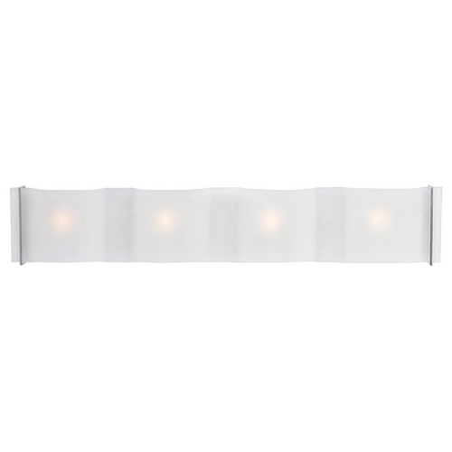 Access Lighting Modern Bathroom Light with White Glass in Brushed Steel Finish 62069-BS/FST