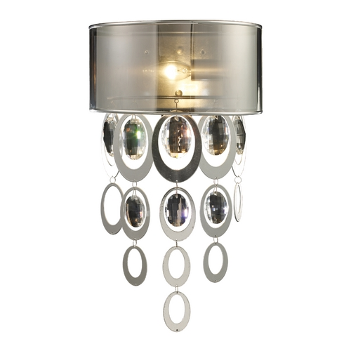 Elk Lighting Modern Sconce Wall Light with Clear Glass in Silver Leaf Finish 14060/1