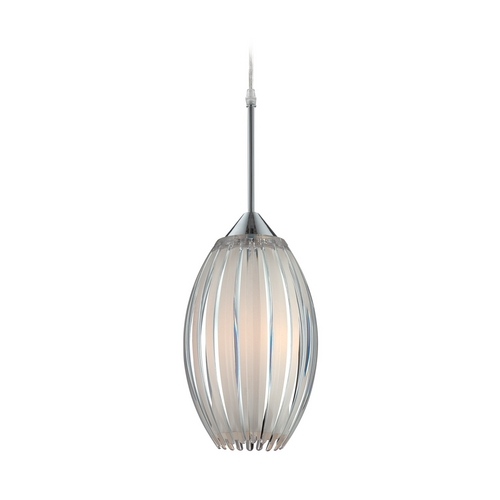 Lite Source Lighting Lite Source Lighting Lotuz Chrome Mini-Pendant Light with Oval Shade LS-19160