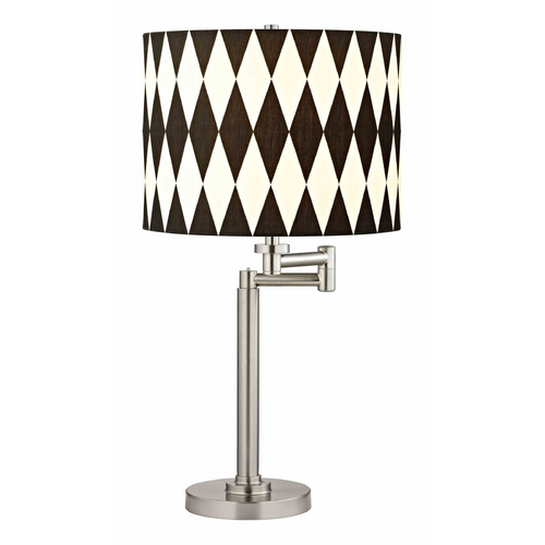 Design Classics Lighting Swing Arm Table Lamp with Harlequin Lamp Shade 1902-09 SH9491