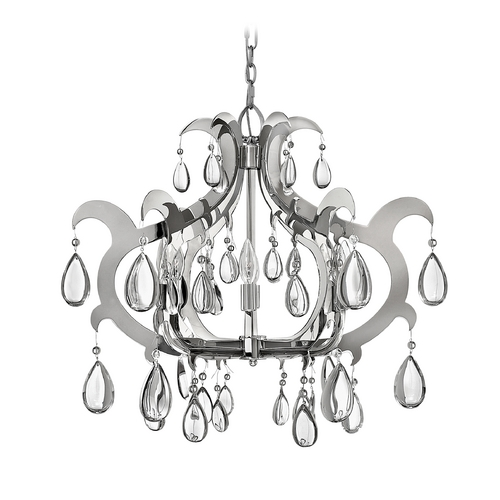 Frederick Ramond Chandelier in Polished Stainless Steel Finish FR43354PSS