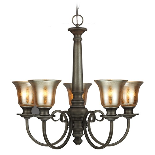 Sea Gull Lighting Mercury Glass Chandelier Bronze Sea Gull Lighting 3170405-736