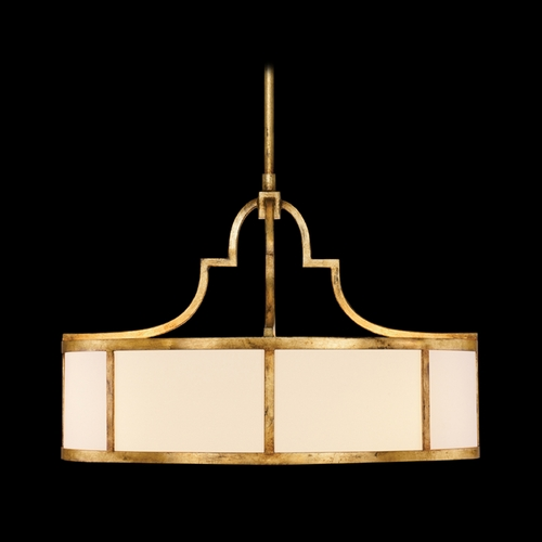 Fine Art Lamps Fine Art Lamps Portobello Road Dor Gold Pendant Light with Drum Shade 420140ST
