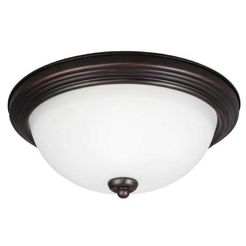 Sea Gull Lighting Sea Gull Lighting Ceiling Flush Mount Burnt Sienna LED Flushmount Light 7726591S-710