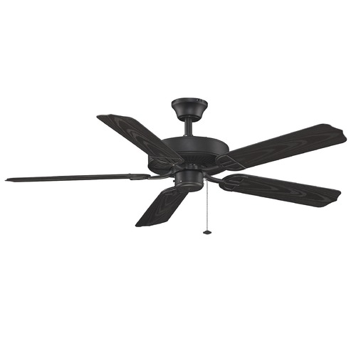 Fanimation Fans Fanimation Fans Aire Decor Black Ceiling Fan Without Light BP230BL1