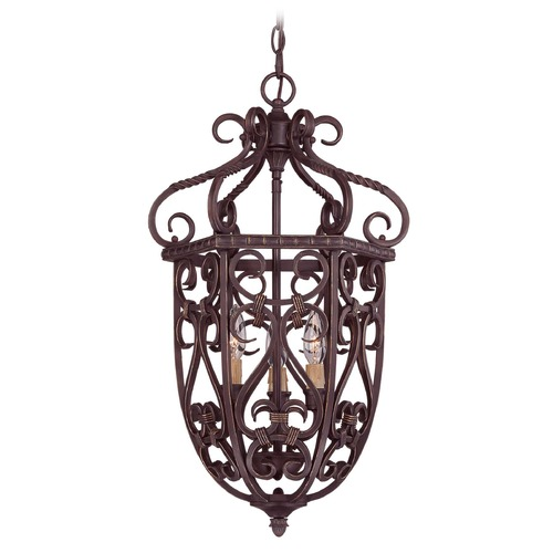 Savoy House Savoy House Bark & Gold Pendant Light 3P-8293-3-52