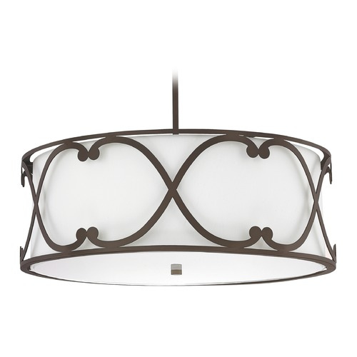Capital Lighting Capital Lighting Alexander Burnished Bronze Pendant Light with Drum Shade 4744BB-611