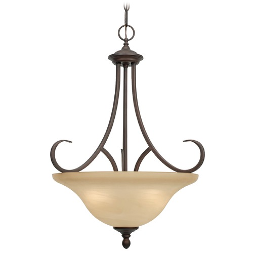 Golden Lighting Golden Lighting Lancaster Rubbed Bronze Pendant Light 6005-3P RBZ