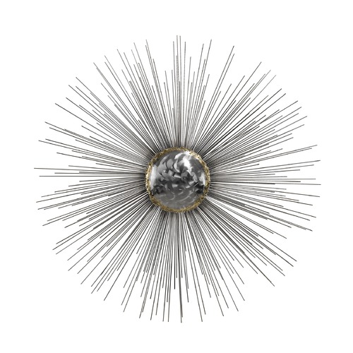 Dimond Lighting Silver Sun Metal Wall D cor 153-007