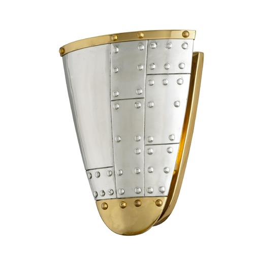Troy Lighting Troy Lighting Fly Boy Antique Silver with Vintage Aluminum and Aged Brass Sconce B4701