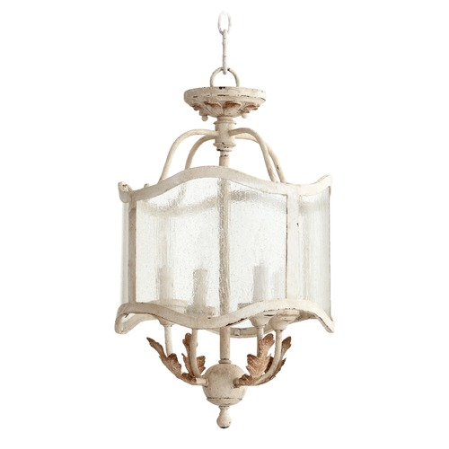 Quorum Lighting Quorum Lighting Salento Persian White Pendant Light with Drum Shade 2906-13-70
