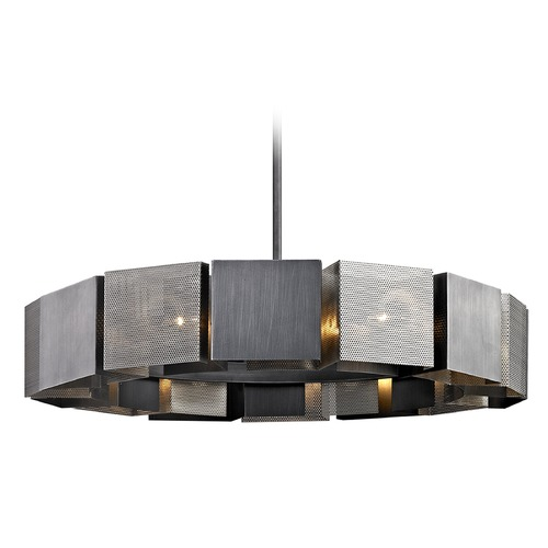 Troy Lighting Troy Lighting Impression Graphite / Satin Nickel Pendant Light with Square Shade F6046