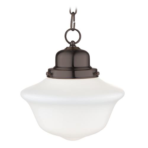 Hudson Valley Lighting Mini-Pendant Light with White Glass 1609-OB