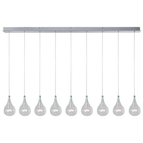 ET2 Lighting Modern Low Voltage Multi-Light Pendant Light with Clear Glass and 9-Lights E23119-18