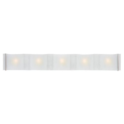 Access Lighting Modern Bathroom Light with White Glass in Brushed Steel Finish 62070-BS/FST