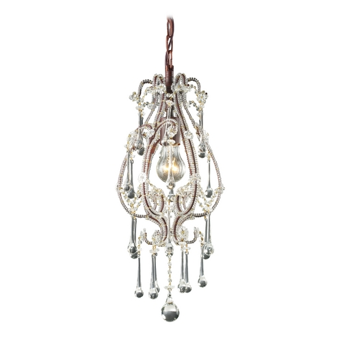 Elk Lighting Mini-Pendant Light 12013/1CL