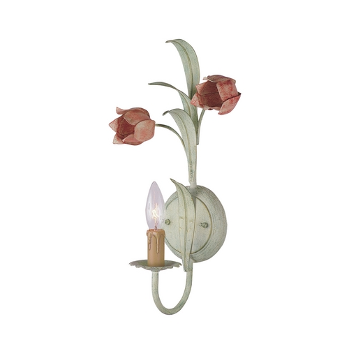 Crystorama Lighting Sconce Wall Light in Sage/rose Finish 4801-SR
