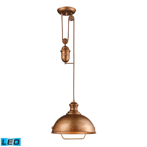 Elk Lighting Elk Lighting Farmhouse Bellwether Copper LED Pendant Light with Bowl / Dome Shade 65061-1-LED