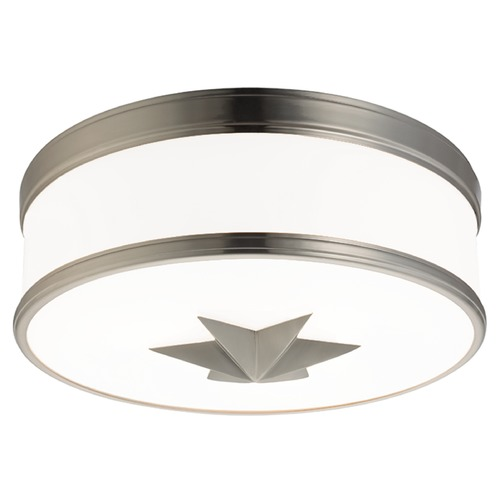 Hudson Valley Lighting Seneca 3 Light Flushmount Light Drum Shade - Satin Nickel 1115-SN
