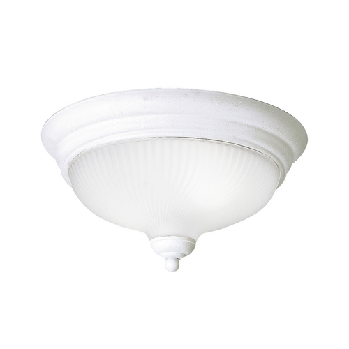 Progress Lighting Progress Flushmount Light with White Glass in White Finish P3547-30EBWB