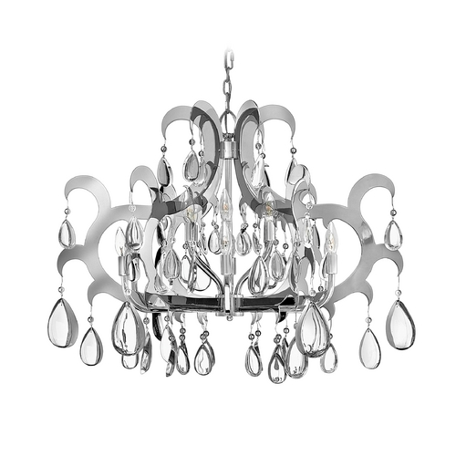 Frederick Ramond Chandelier in Polished Stainless Steel Finish FR43351PSS