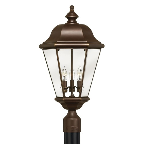 Hinkley Lighting Post Light with Clear Glass in Copper Bronze Finish 2421CB