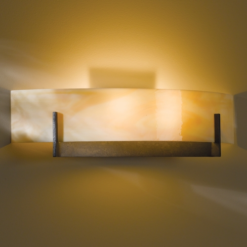 Hubbardton Forge Lighting Hubbardton Forge Lighting Axis Dark Smoke Sconce 206401-07-A324