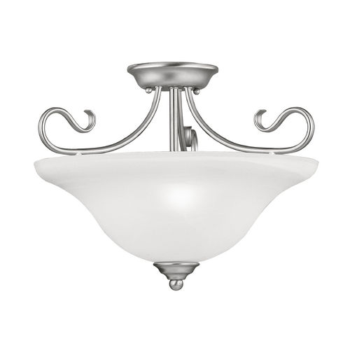 Livex Lighting Livex Lighting Coronado Brushed Nickel Semi-Flushmount Light 6130-91