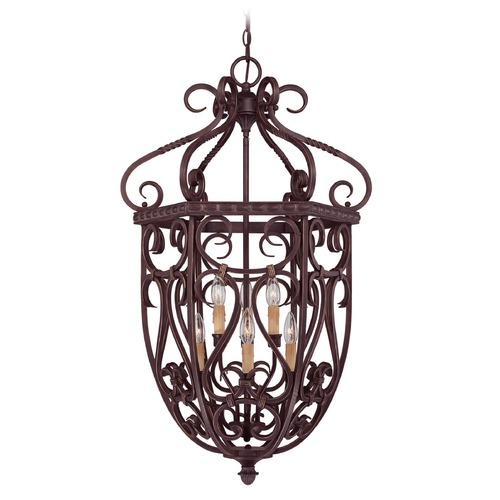 Savoy House Savoy House Bark & Gold Pendant Light 3P-8295-6-52
