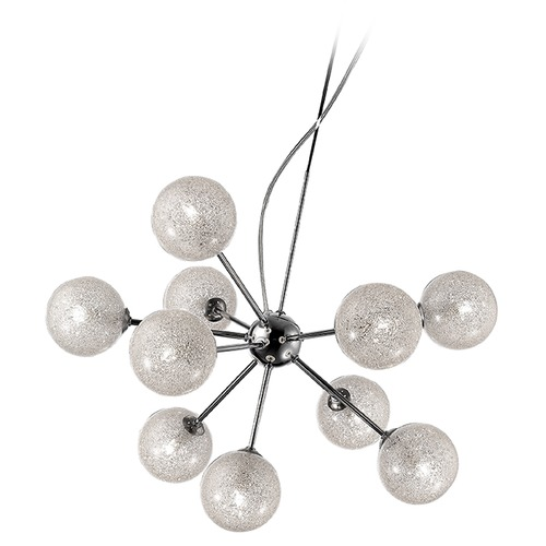 Access Lighting Mid-Century Modern Chandelier Chrome Opulence by Access Lighting 62326-CH/CLR