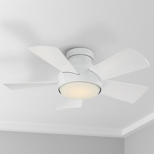 Modern Forms by WAC Lighting Modern Forms Matte White 38-Inch LED Smart Ceiling Fan 2700K 2041LM FH-W1802-38L-27-MW