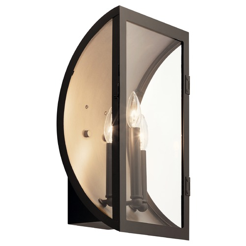 Kichler Lighting Narelle Large Olde Bronze Outdoor Wall Light with Clear Glass 49288OZ