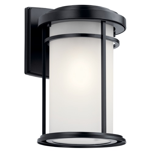 Kichler Lighting Kichler Lighting Toman Black LED Outdoor Wall Light 49687BKL18