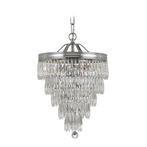 Crystorama Lighting Crystal Pendant Light in Polished Chrome Finish 120-CH