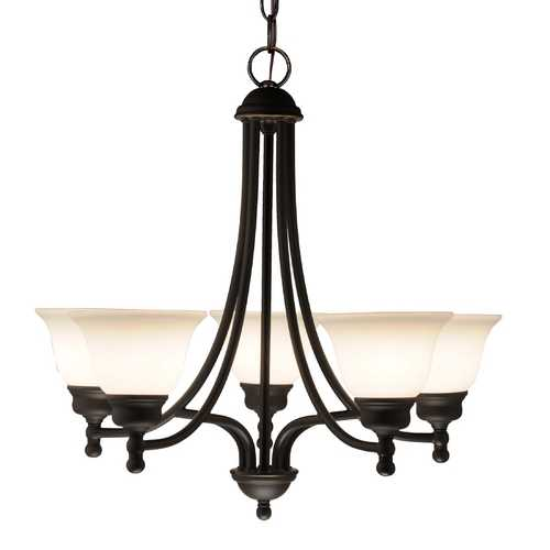 Design Classics Lighting Bronze Chandelier with Five Lights 7005-78