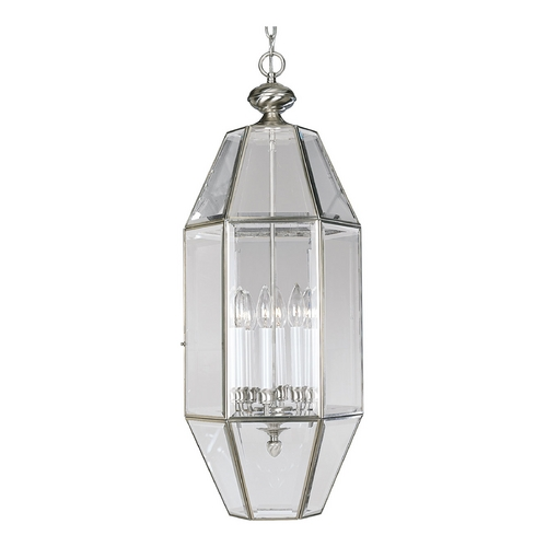 Progress Lighting Progress Cage Pendant Light with Clear Beveled Glass P3779-09