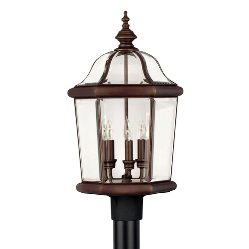 Hinkley Post Light with Clear Glass in Copper Bronze Finish 2451CB