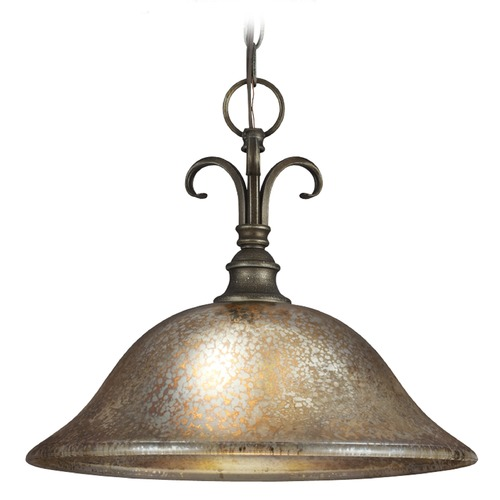 Sea Gull Lighting Mercury Glass Pendant Light Bronze Sea Gull Lighting 6570401-736