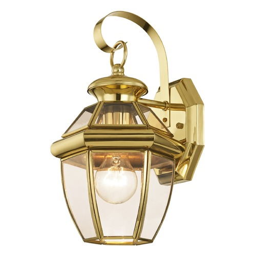 Livex Lighting Livex Lighting Monterey Polished Brass Outdoor Wall Light 2051-02