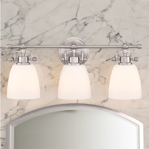 Quoizel Lighting Quoizel Bower Brushed Nickel Bathroom Light BWR8603BN