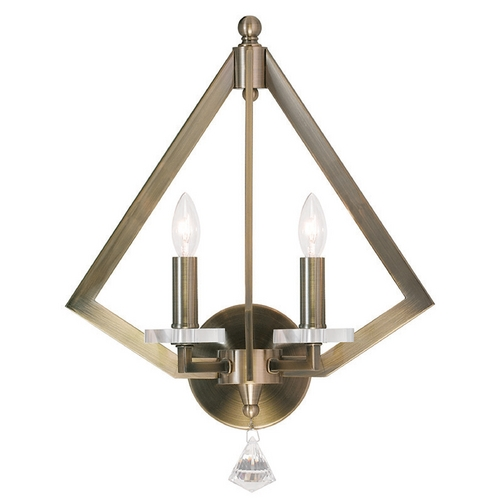 Livex Lighting Livex Lighting Diamond Antique Brass Sconce 50662-01
